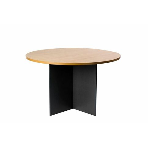 Firstline 1200 Round Meeting Table Beech/Ironstone