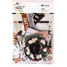 Rosie's Studio Twig & Twine Cardstock Diecuts 142 Piece Multi-Coloured