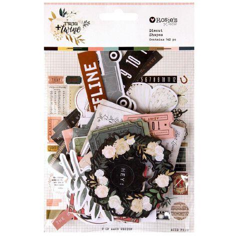 Rosie's Studio Twig & Twine Cardstock Diecuts 142 Piece Multi-Coloured