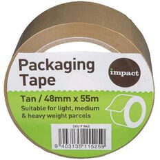 Impact Packaging Tape Low Noise Pp 48Mm X 55M Tan Multi-Coloured