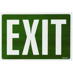 Headline Sign Exit White