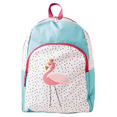 Backpack Entry Print Flamingo