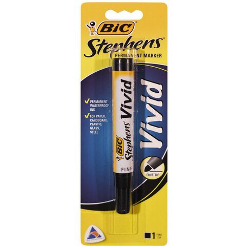 Stephens Vivid Marker 1 Pack Black