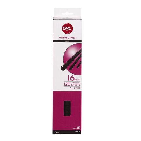 Ibico Binding Comb 16mm 25 Pack Black