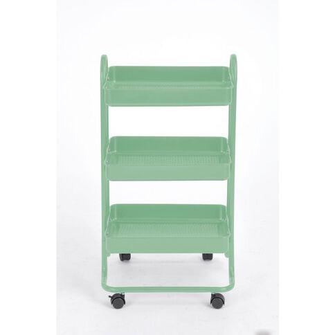 Workspace 3 Tier Trolley Green