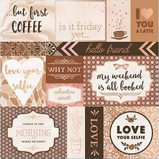 Craft Smith Paper Pad Love U Latte Foil 12in x 12in 48 Sheet Copper