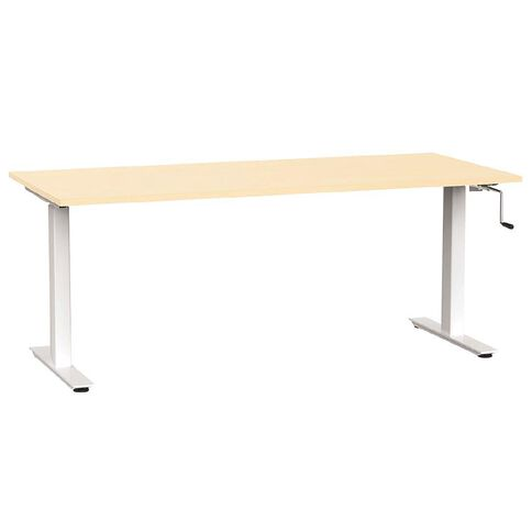 Agile Height Adjustable 1800 Desk Nordic Maple/White