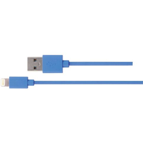 H+O Lighting To USB Cable 1m Blue