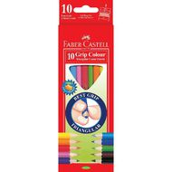 Faber-Castell Coloured Pencils Grip Tri 10 Pack