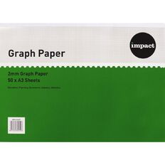 Impact Graph Pad 2mm Ruling White A3