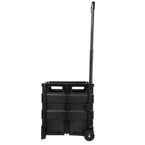 Workspace Foldable Crate With Trolley 60L Black