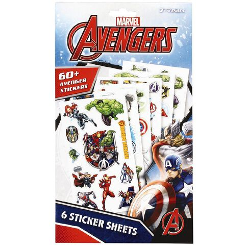 Avengers Marvel Sticker Book 6 Page