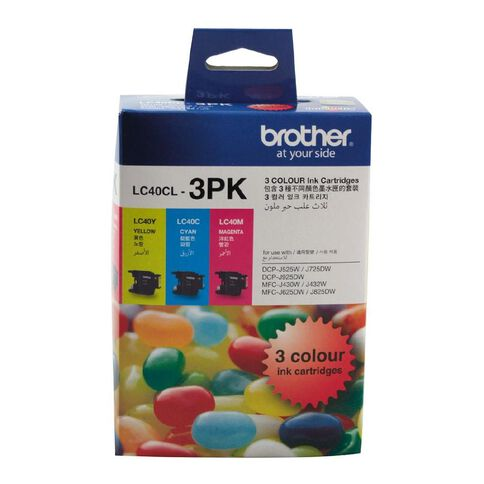 Brother Ink Cartridge LC40 3 Pack Multi-Coloured