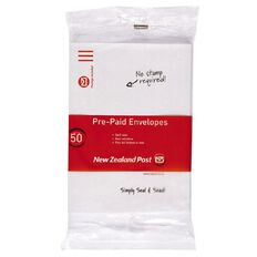 C5 Pack New Zealand Post Envelope Prepaid Non Window 50 Pack White