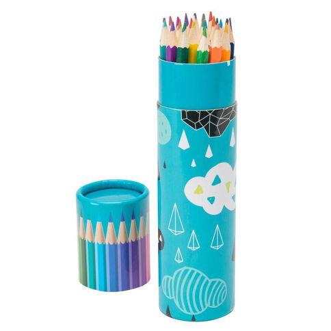 Kookie Geo Clouds Colour Pencils 24 Pack Blue