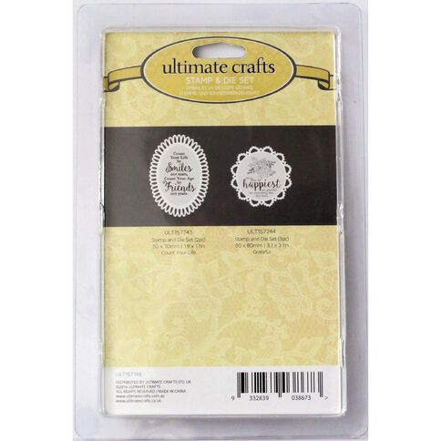 Ultimate Crafts Rambling Rose Stamp & Die Set Assorted