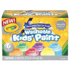 Crayola Washable Metallic Kids Paint 6 Pack