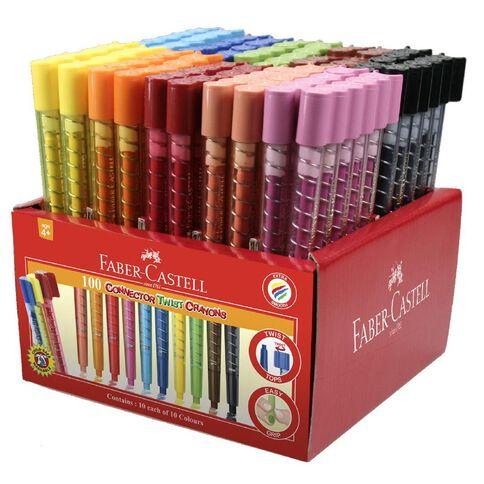 Faber-Castell 100 Connector Twist Crayons Caddie