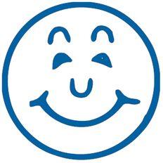 Xstamper Stamp Smiley Blue