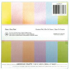 American Crafts Paper Pad Heavy Duty Pastels 6in x 6in 36 Sheets