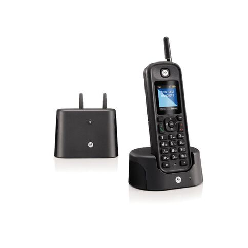Motorola 0211 Single Digital Cordless Phone With Answering Machine Black