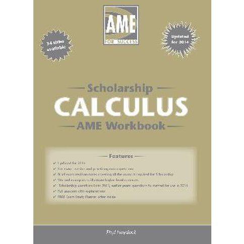 Ncea Year 13 Scholarship Calculus Workbook