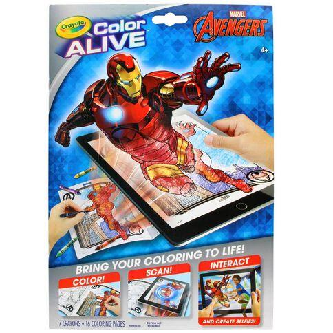 Avengers Crayola Colour Alive Multi-Coloured