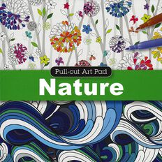 Pull Out Pad Colouring Nature