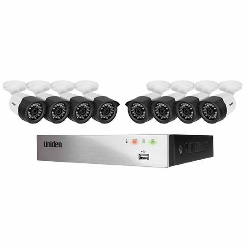 Uniden Dvr 8 Ch System 8 1080P Bull Cam Silver