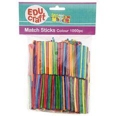 Educraft Match Sticks Coloured 1000 Pieces