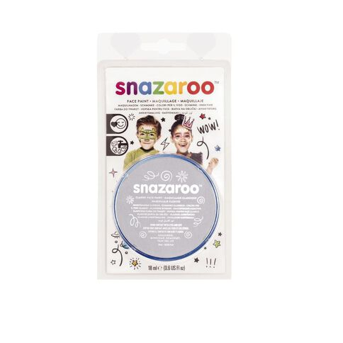 Snazaroo Face Paint 18Ml Pot Grey Grey