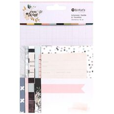 Rosie's Studio Twig & Twine Library Cards and Pockets 12 Pack
