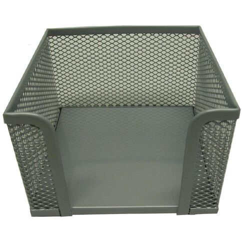 Mesh Memo Cube Holder Pewter