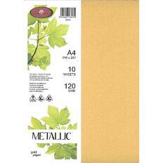 Metallic Paper 120gsm 10 Pack Gold A4