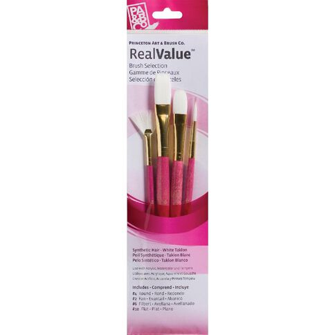 Brush Taklon Fan Round 4 Real Value Set