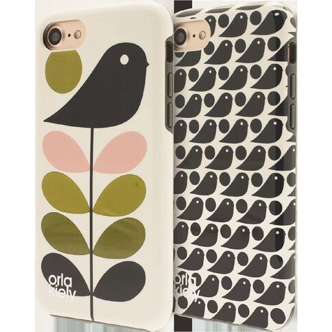 Orla Kiely Iphone 7 Case Ditsy Early Bird/Early Bird Duo Pack Clear