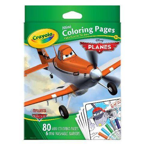 Disney Crayola Planes Mini Coloring Pages