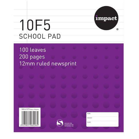 Impact Pad Refill 10F5 12mm Ruled 100 Leaf