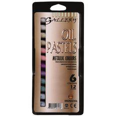 Gallery Oil Pastels Metallics 12 Pack