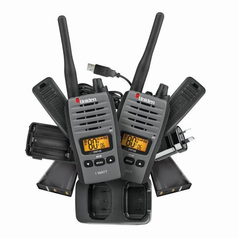 Uniden Uh810S-2 Twin Pack Radio Black