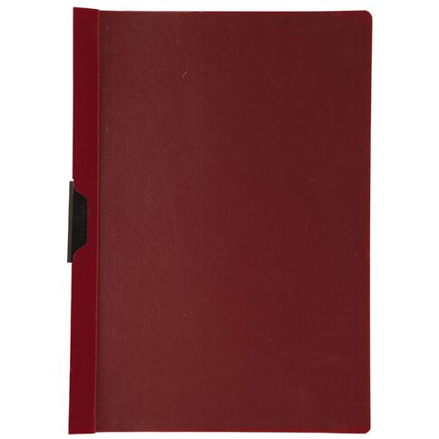 Durable Clip Report Cover 60 Capacity Burgundy