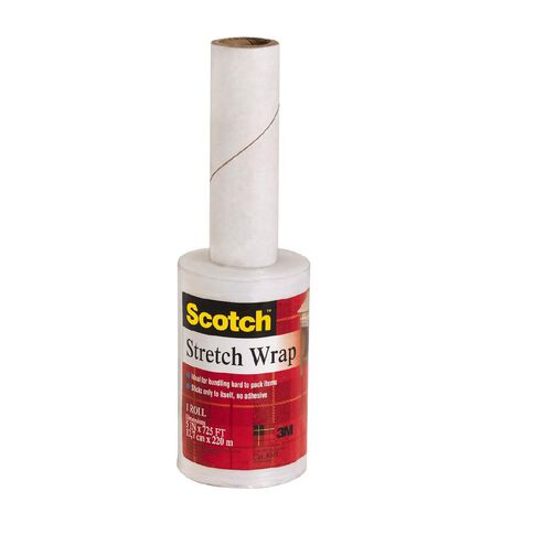 Scotch Stretch Wrap 8033 with Dispenser Clear