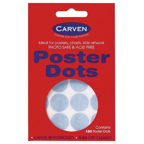 Carven Magic Dots Large 18mm 100 Pack Blue