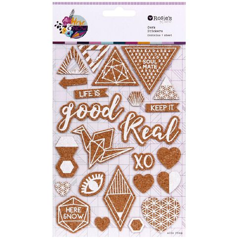 Rosie's Studio Here & Now Cork Stickers