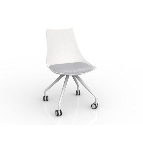 Luna Chair White Ash Grey