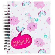 Kookie Unicorn Notebook Multi-Coloured
