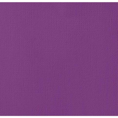 American Crafts Cardstock Textured 12 x 12 Grape Purple