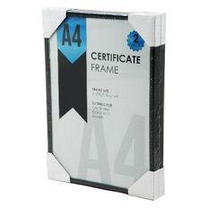 Certificate Frame A4 Black 2 Pack