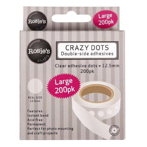Rosie's Studio Crazy Dots 12.5mm (1/2in) 200 Pack White