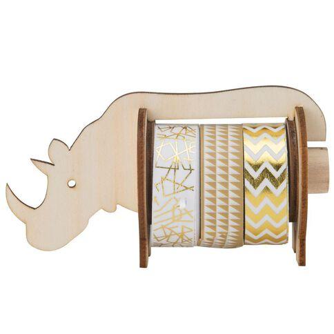 Natural Glam Washi Tape Rhino Dispenser
